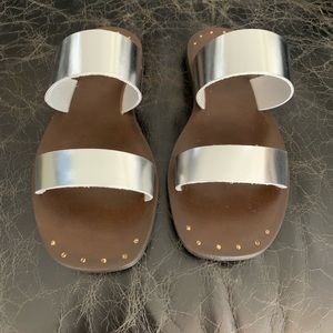 Joie Bannerly Sandals in Silver